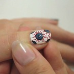 Eyeball Halloween nail art tutorial