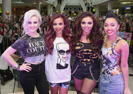 Little Mix do Karl Lagerfeld and Batman slogan prints in Australia