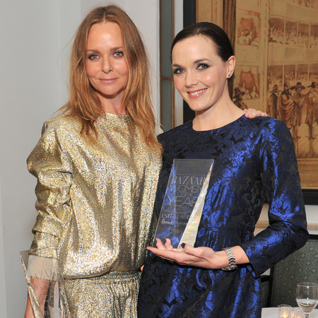 Victoria Pendleton and Stella McCartney match outfits at Harper's Bazaar Awards
