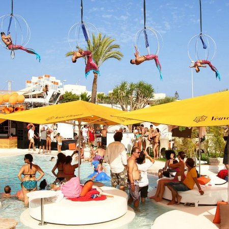 Ibiza beach club holiday