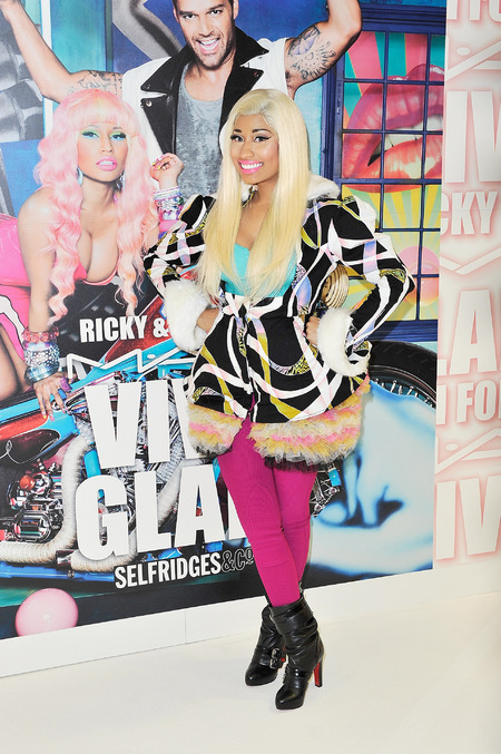 Nicki Minaj rocks rainbow brights to launch MAC collection in Selfridges
