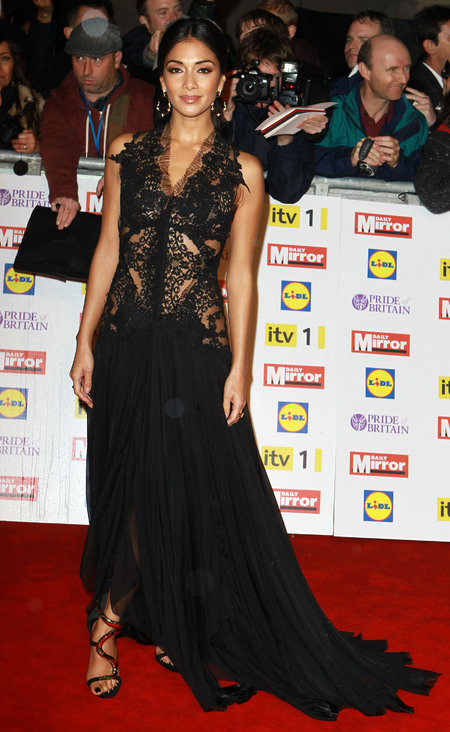 Nicole Scherzinger in sheer lace at Pride of Britain Awards
