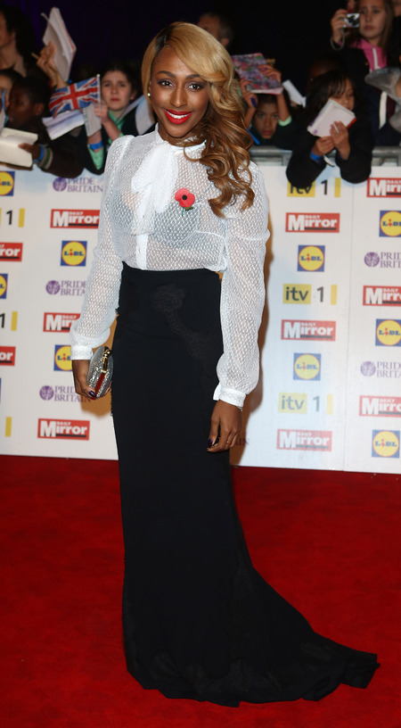 Alexandra Burke's girl meets boy style at Pride of Britain Awards