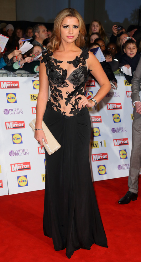 Lucy Mecklenburgh in sheer lace at Pride of Britain Awards