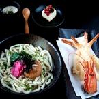 Aqua Kyoto's shrimp tempura udon