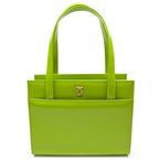 BAG LOVE: Launer London lime green bag