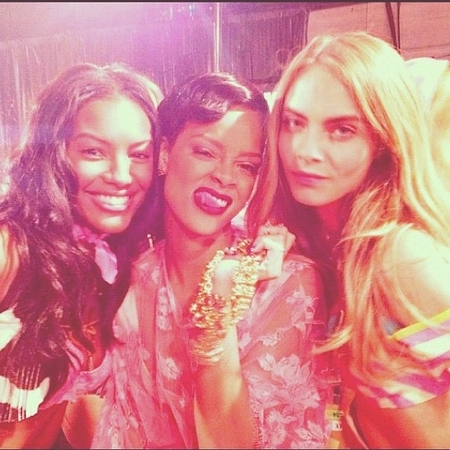 Rihanna with VS models
