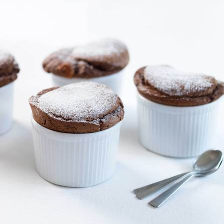 Mary Berry's hot chocolate souffles