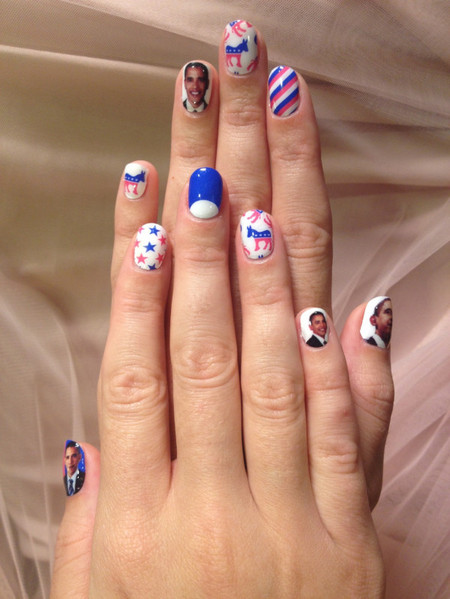 Katy Perry US Presidential Election nail art