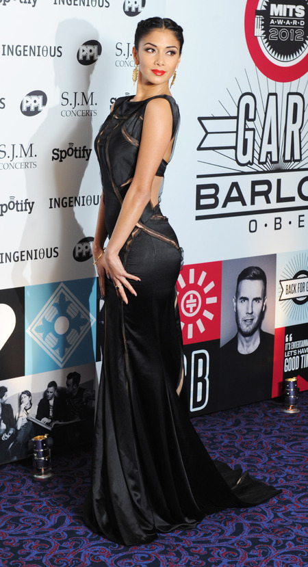 Nicole Scherzinger nails black and gold glam at Music Industry Awards