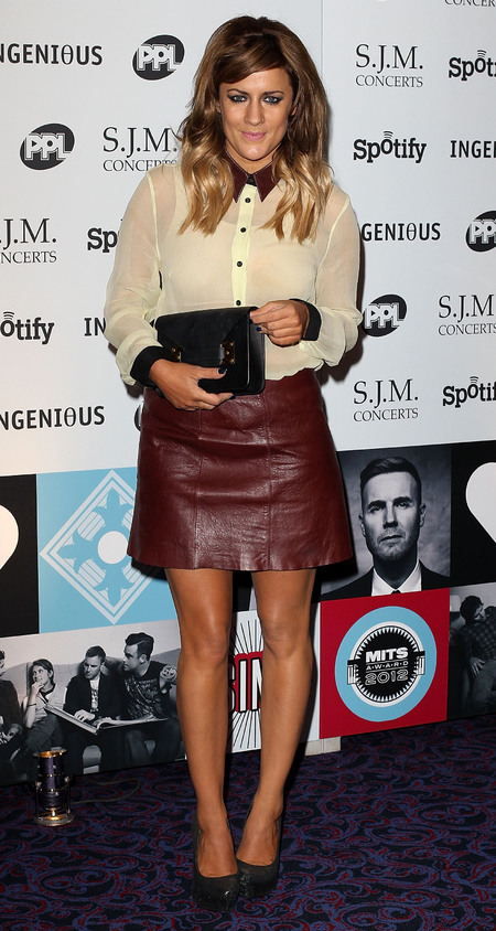 Caroline Flack works a new side fringe at Music Industry Awards