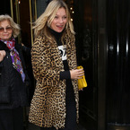 Kate Moss does winter chic in leopard print