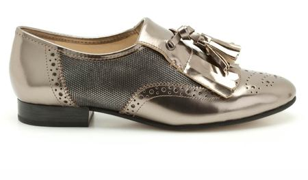 SHOP! Mary & Clarks metallic brogues