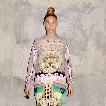 We want Beyonce's patterned shirt dress