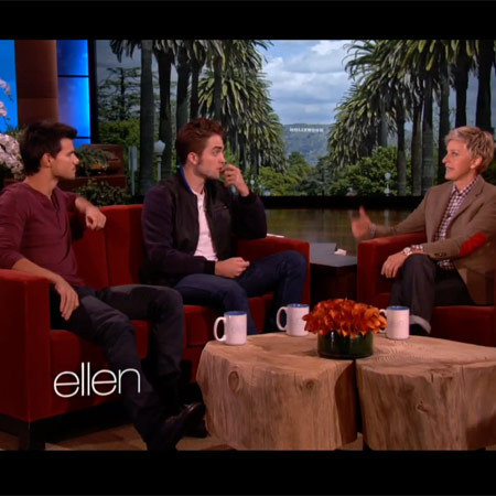 Robert Pattinson and Taylor Lautner on Ellen