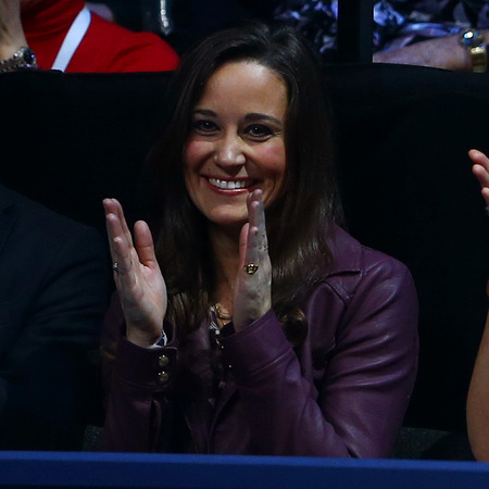 Pippa Middleton does purple leather and leopard print at ATP tennis finals