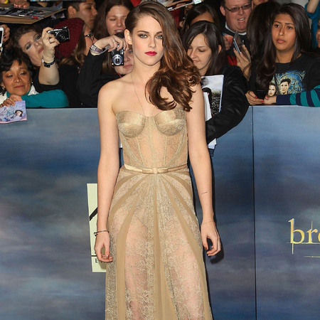 Kristen Stewart in Zuhair Murad at Twilight Breaking Dawn Part 2 LA premiere