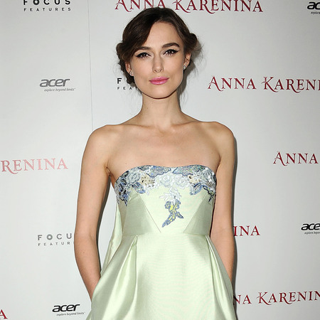 Keira Knightley works custom Erdem gown at Anna Karenina LA premiere