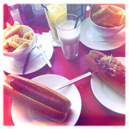 Ed's diner hot dogs vanilla milkshake