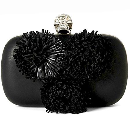 Alexander McQueen pom pom clutch 2 - Handbag shop