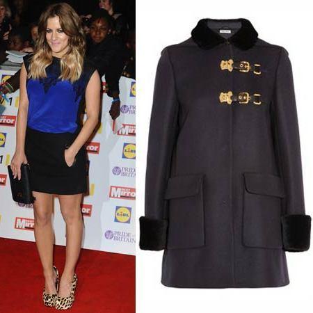 Olly Murs gifts Caroline Flack this Miu Miu coat