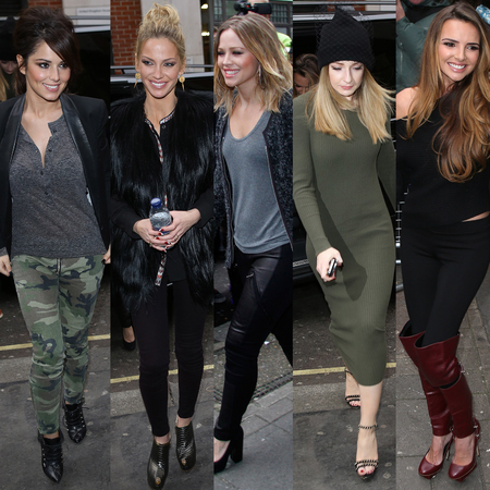 Girls Aloud visit BBC Radio 1 November 2012
