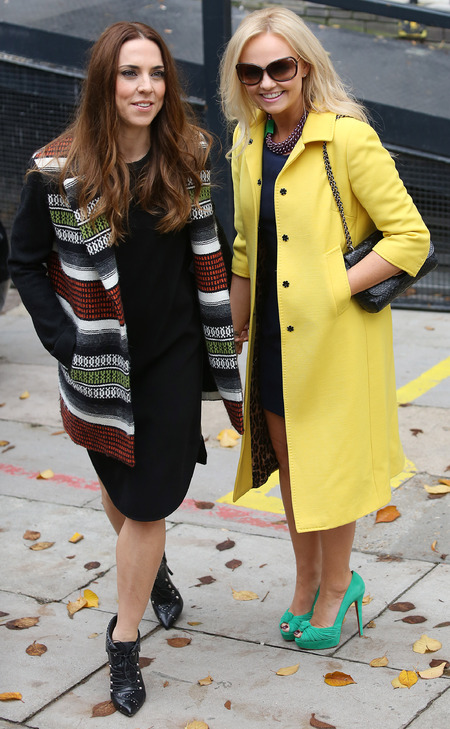 Mel C and Emma Bunton outside ITV studio London