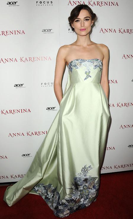 Keira Knightley wears Erdem dress, November 2012