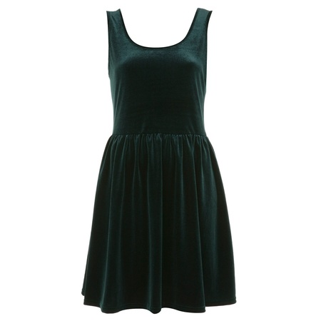 SHOP! Green velvet dress