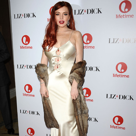 Lindsay Lohan at Liz & Dick LA premiere