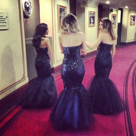Girls Aloud sparkle in sequin fishtail gowns for Royal Variety Show