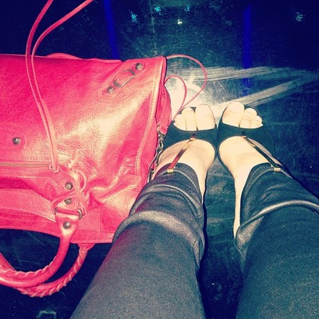 SPOTTED! Kylie Jenner's red Balenciaga bag
