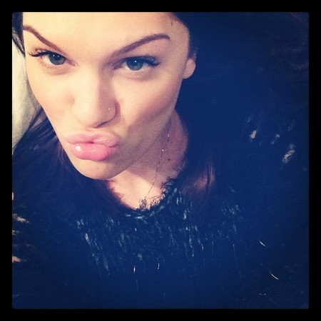 Jessie J flexes her perfectly plucked brows