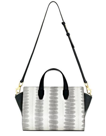 Alexander Wang White Pelican snake print satchel