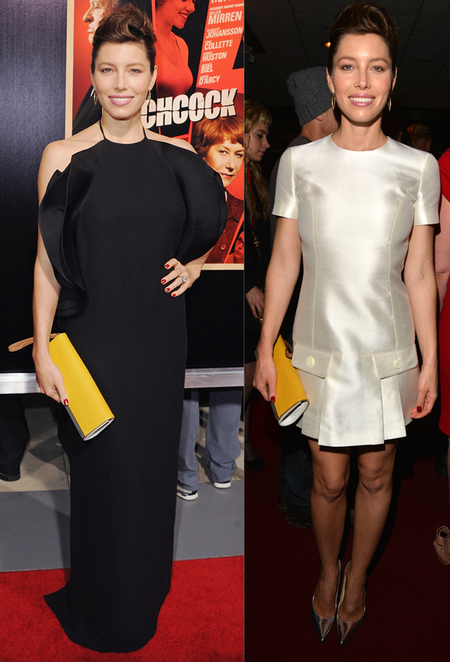 Jessica Biel in Gucci and Michael Kors at Hitchcock premiere LA