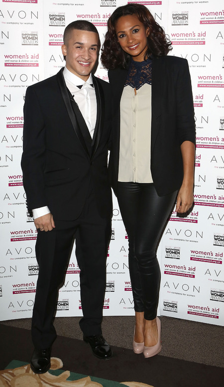 Alesha Dixon and Jahmene Douglass at Avon event
