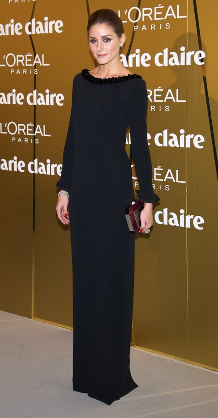 Olivia Palermo is effortlessly glam in maxi Dior dress
