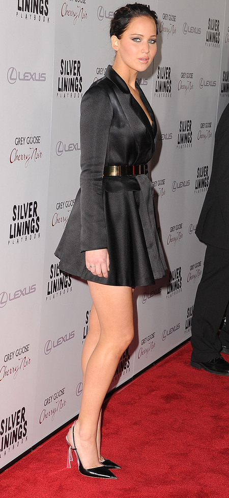 Jennifer Lawrence in Christian Dior at Silver Linings promo