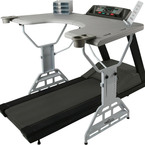 Workout at work with the treadmill desk