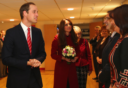 Kate Middleton supports Wales in recycled red LK Bennett coat