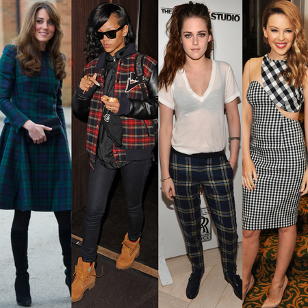 Tartan and Plaid: Kate Middleton, Rihanna, Kristen Stewart, Kylie Minogue