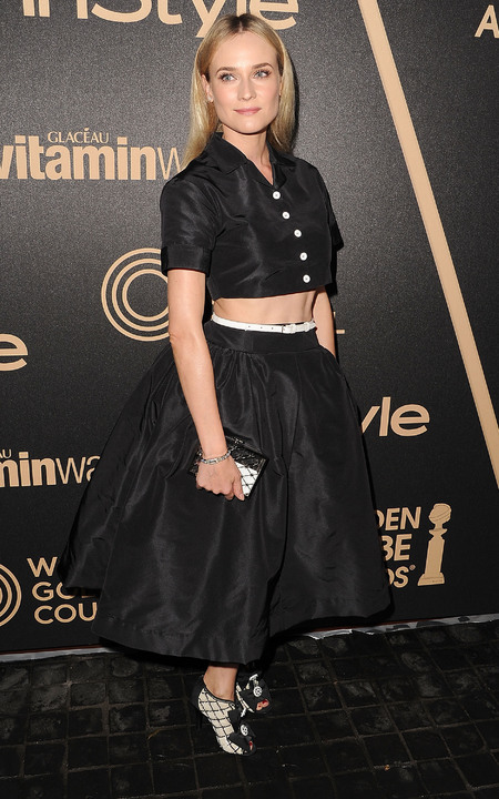 Diane Kruger's cropped shirt