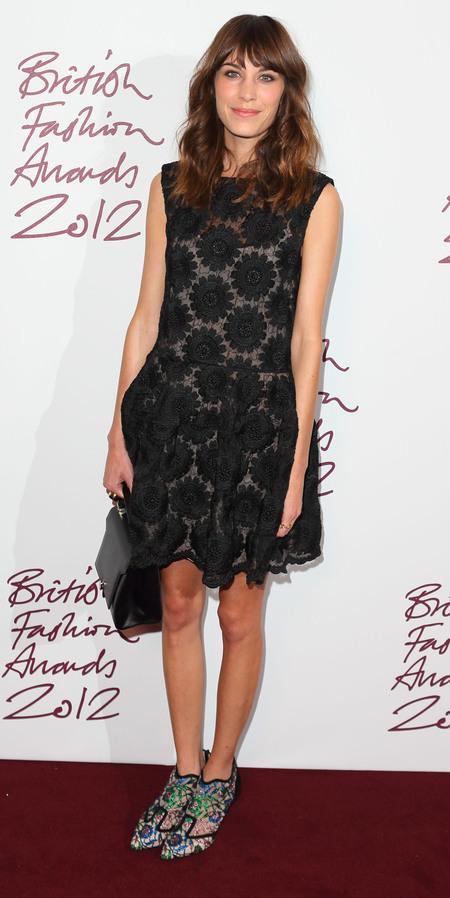 Alexa Chung at British Fashion Awards 2012