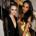 Cara Delevingne and Jourdan Dunn go glam in Burberry