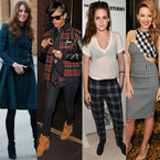 CELEBRITY TREND: Tartan and plaid for winter style
