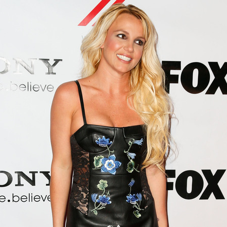Britney Spears leathers up in embroidered Christopher Kane