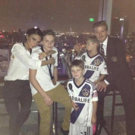 David Beckham, Victoria Beckham and the boys