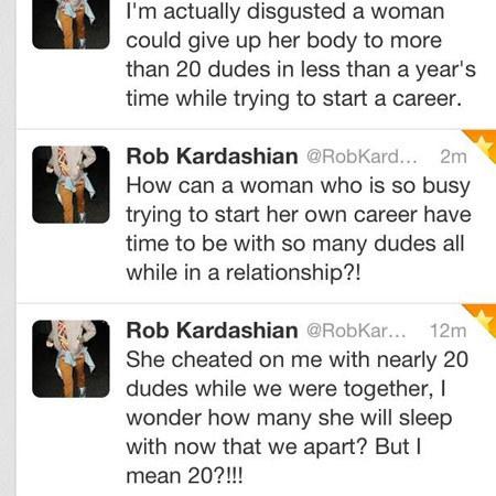 Rob kardashian tweets about Rita Ora