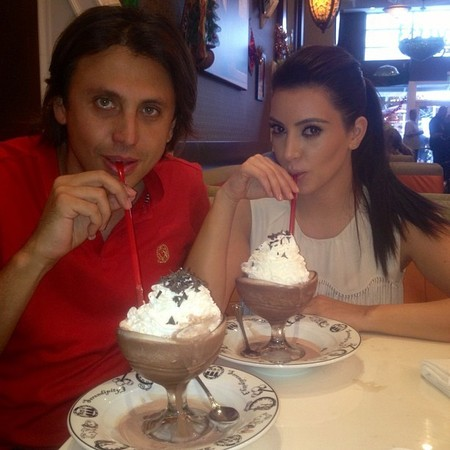 Kim Kardashian frozen hot chocolate