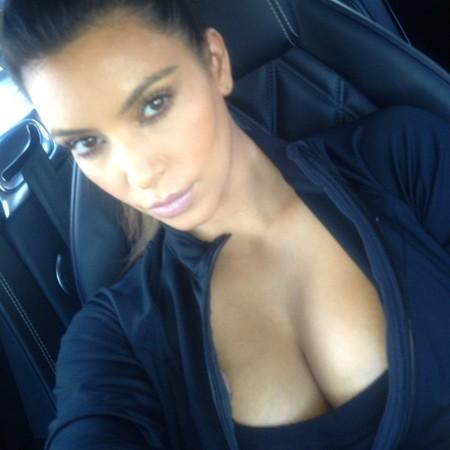 Kim Kardashian sports bra